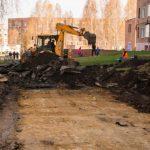 В Юрге ремонтируют дворы по нацпроекту