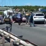 Массовое ДТП в Юрге перегородило мост
