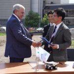 В честь соглашения между кузбасской и японской компаниями в Новокузнецке посадили сакуру