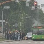 В Кемерове задымился автобус с пассажирами