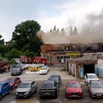 В заводском здании в центре Кемерова вспыхнул пожар
