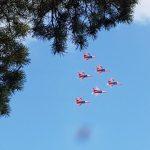 Тренировочный полет «Стрижей» привлёк внимание кемеровчан