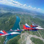 Пилоты группы «Стрижи» поделились снимками кузбасских городов из кабины