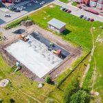 В Юрге строят многофункциональную спортивную площадку