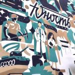 Грандиозное граффити появилось в Новокузнецке к 300-летию Кузбасса