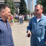 Мэр Новокузнецка Сергей Кузнецов встретился с руководителем полетов «Стрижей»