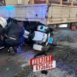 В Кемерове патрульный мотоцикл попал в ДТП