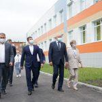 Губернатор Сергей Цивилев посетил новое здание кемеровского лицея