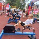 В посёлке Демьяновка открыли первую спортивную площадку