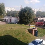 За день до первого сентября рядом с одной из кемеровских школ произошел пожар