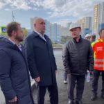Сергей Цивилев проверил ход строительства теннисного корта и «Кузбасс-Арены» в Кемерове