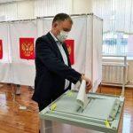 Мэр Кемерова Илья Середюк отдал свой голос на выборах
