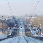 "Проспект Ленина, вид на мост ""Искитимский"" в сторону ж/д вокзала"