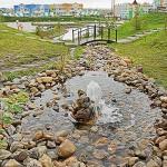 """Искусственный ручей в парке """"Лесная сказка"""""""