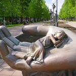 """Скульптура """"Колыбель"""" на ул.Весенняя"""