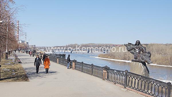 Притомская набережная в Кемерово