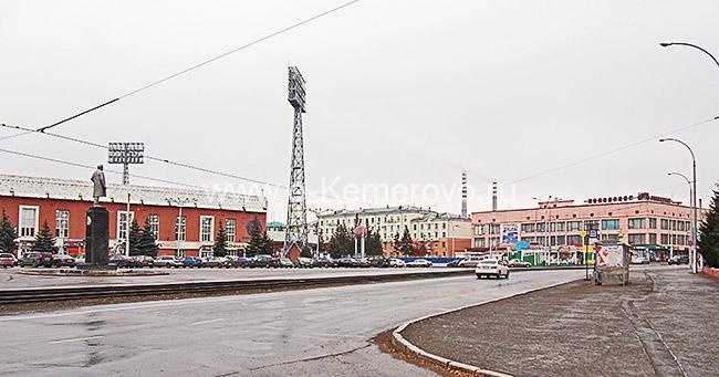 Вид на площадь Кирова в Кемерово
