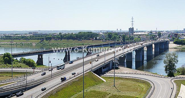 """Вид на мост """"Кузнецкий"""" в Кемерово"""