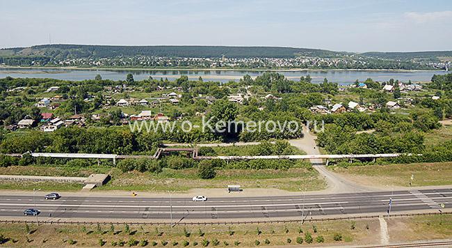 Вид на Притомский проспект и Заречные улицы