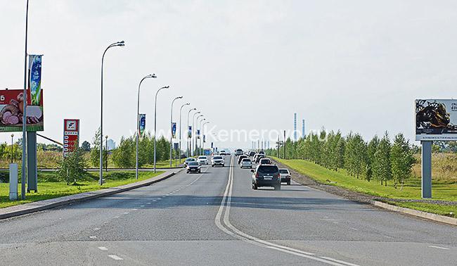 Окончание Притомского проспекта, примыкание к бульвару Строителей