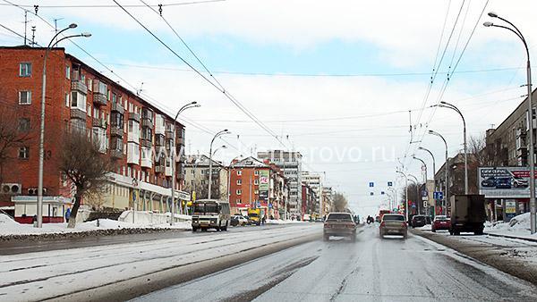 Проспект Шахтеров на участке от ул.Терешковой до ул.Цимлянской