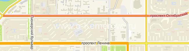 Октябрьский проспект на участке от своего начала до ул.Терешковой