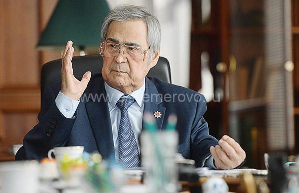 Аман Тулеев незадолго до отставки