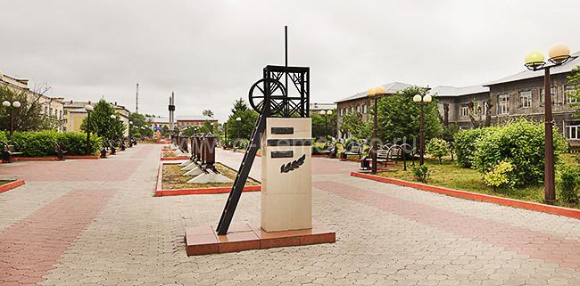 Аллея шахтерской славы. Город Ленинск-Кузнецкий, Кемеровская область