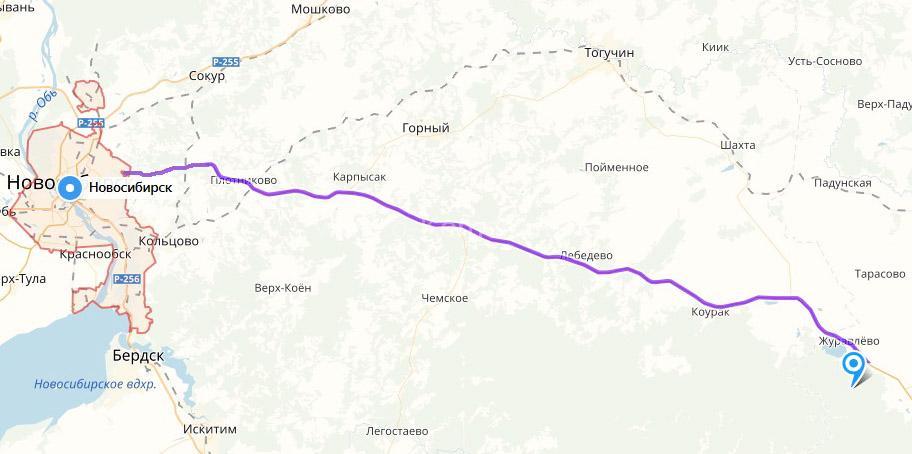 Как доехать до Таная из Новосибирска