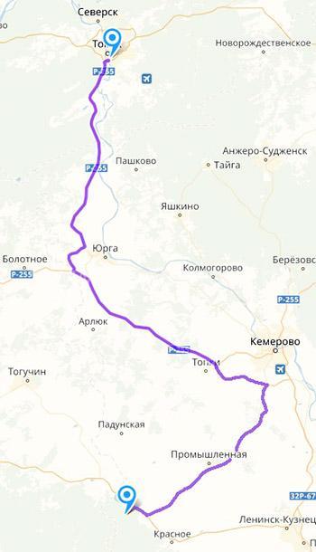 Как доехать до Таная из Томска