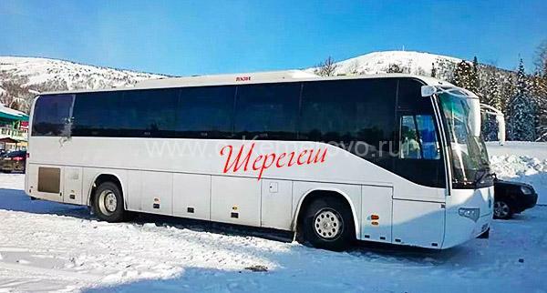 На автобусе до Шерегеша