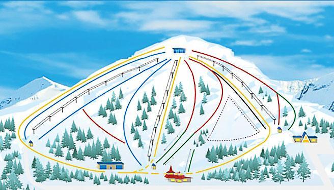 Схема трасс на Танае