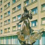 "Скульптура у гостиницы ""Кузбасс"""