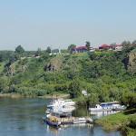 Вид на Красную горку и на речной вокзал
