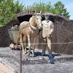 Скульптурная композиция Коногон в музее-заповеднике Красная горка
